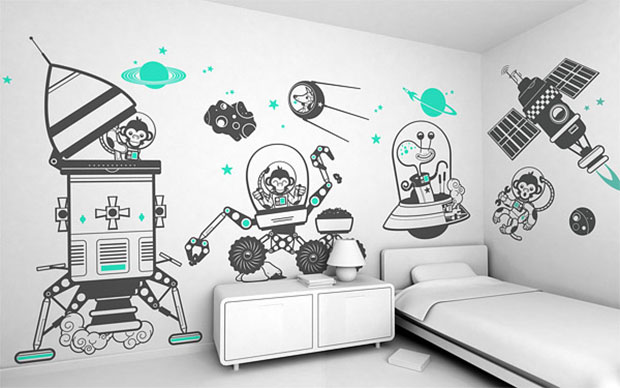 Aerospace Wall Decals Design