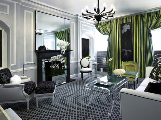 Black and Gray Room