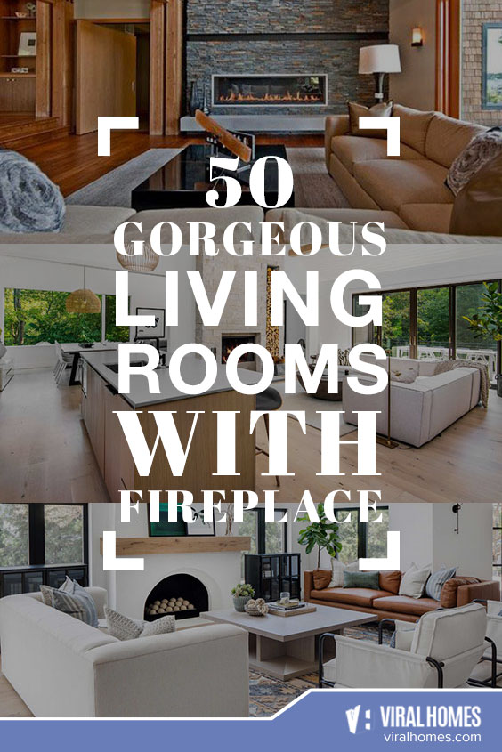 50 Gorgeous Living Room Ideas with Fireplace To Keep Warm
