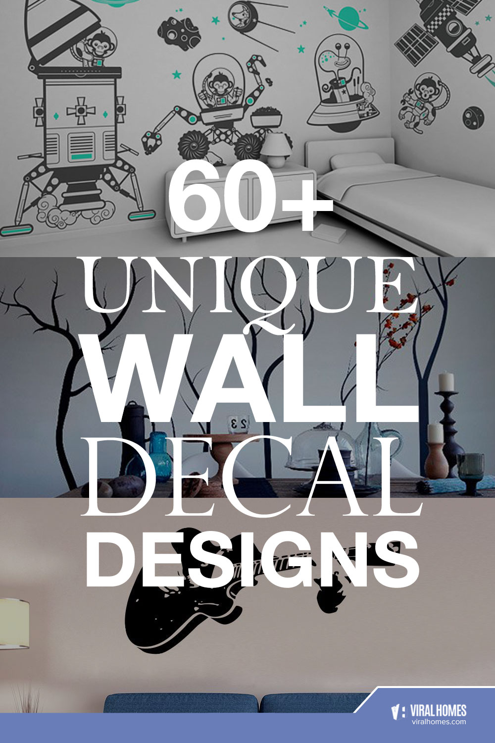 60 Unique Wall Decals Design to Add Personality To Your Room