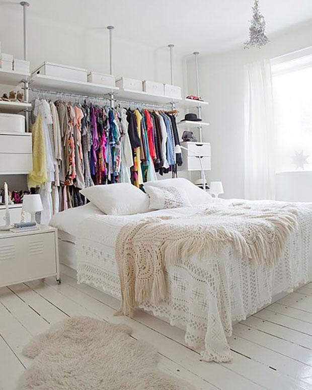 Behind Bed Small Bedroom Closet Ideas