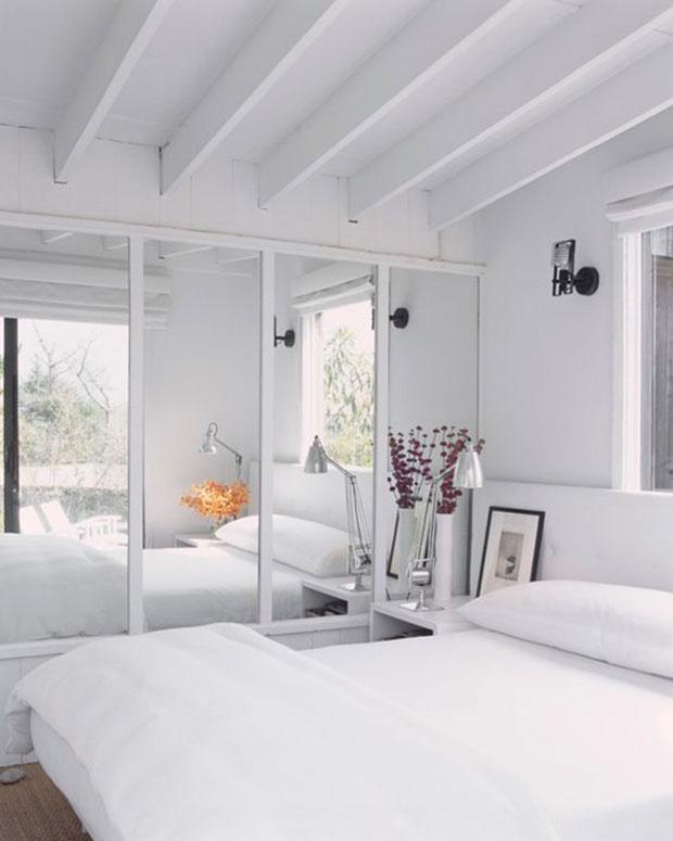 Mirrored Bedroom Wall