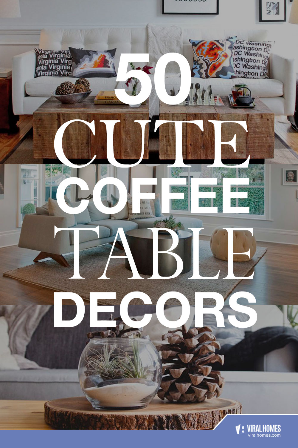 Cute Coffee Table Decor To Liven Up Your Living Room