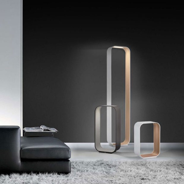 Contour Modern LED Floor Lamp