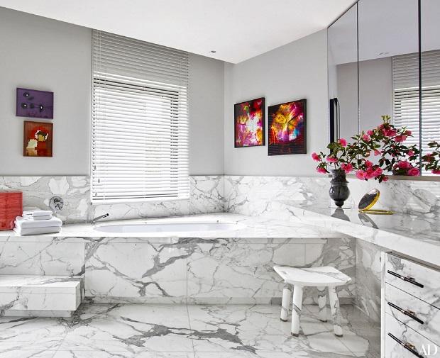 Marble Gray Bathroom Ideas