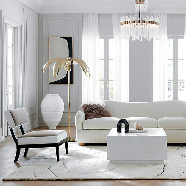 Palm Brass Floor Lamp