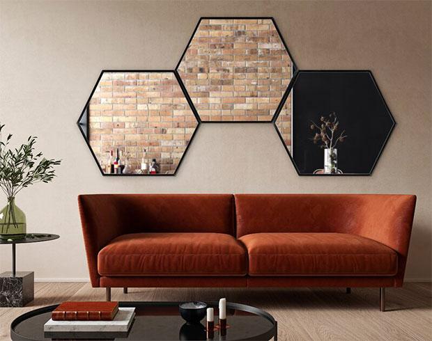 Breckler Modern Wall Mirror Designs for Living Room