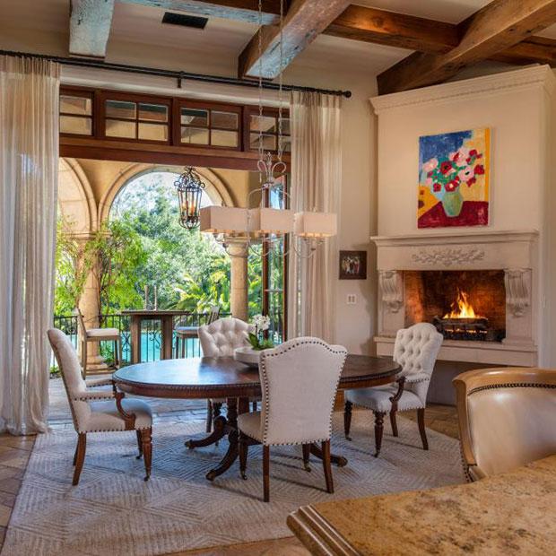 Neutral Mediterranean Dining Room Designs