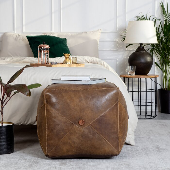 Grasser Leather Ottoman