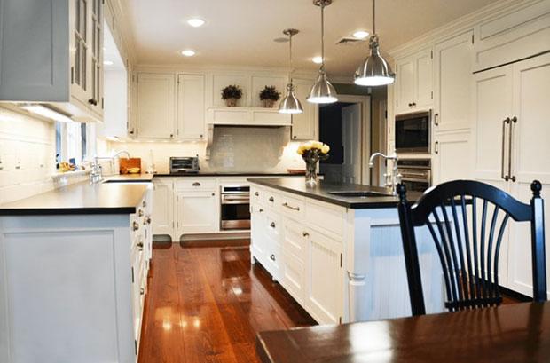 Westchester Renovation White Kitchen Cabinets