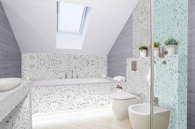 Galaxy White Bathroom