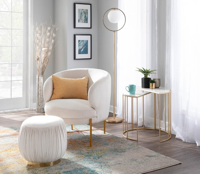Belrose Ruched Pouf