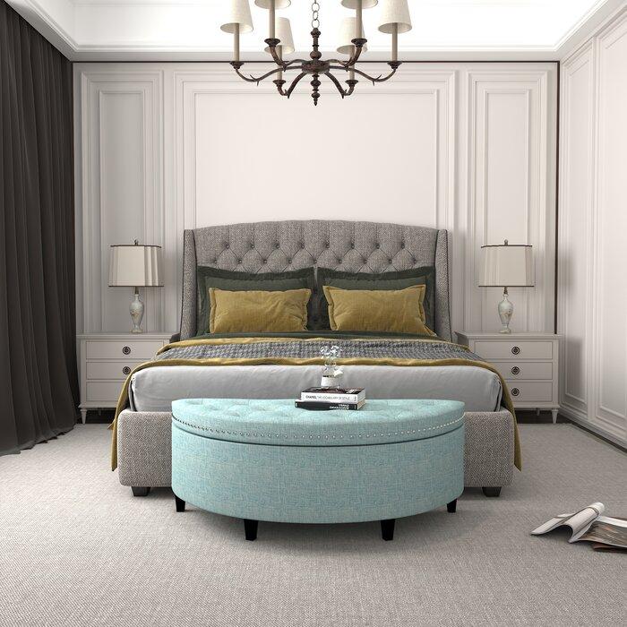 Roxann Upholstered Flip Top Storage Bench