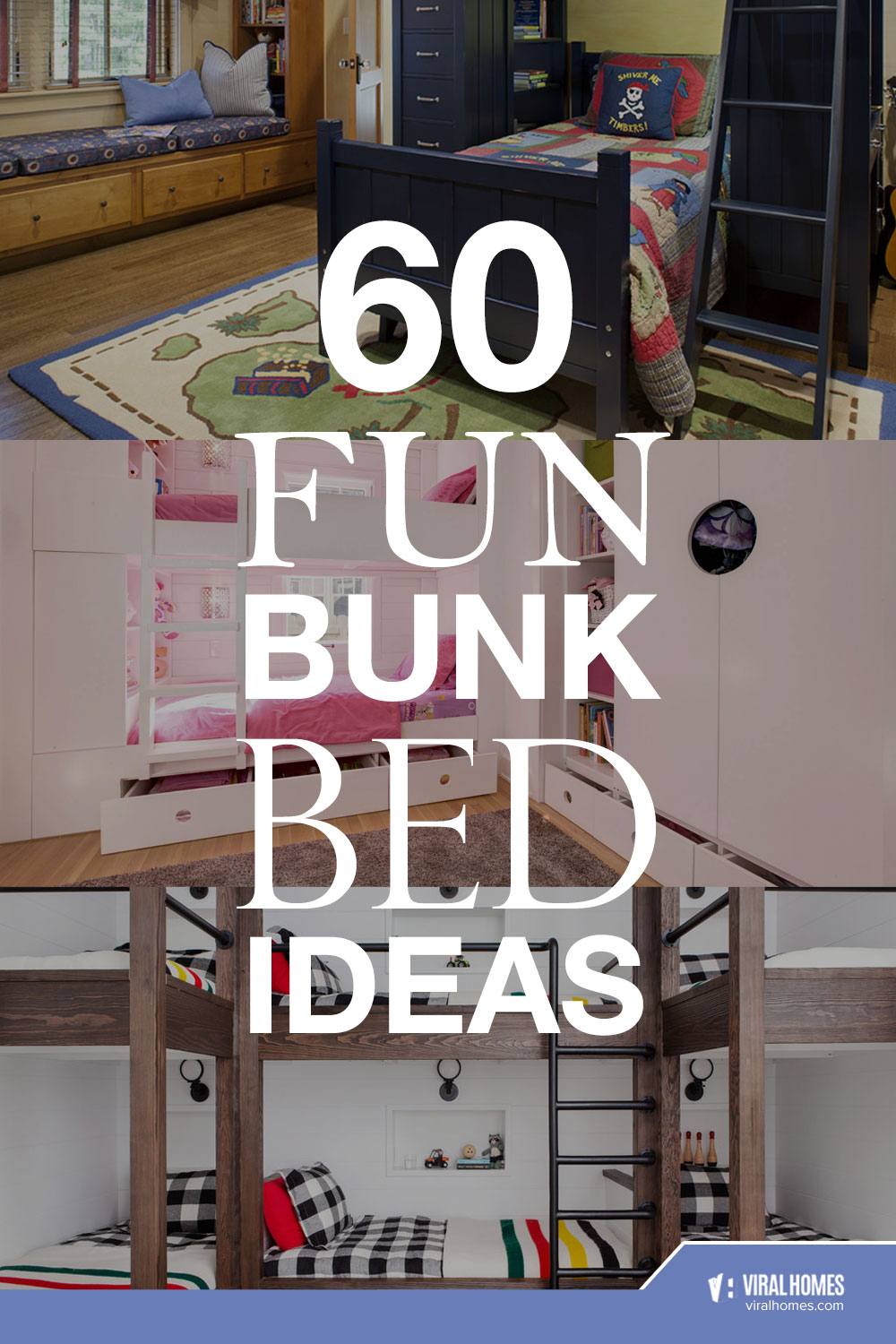 Fun Bunk Bed Ideas for the Little Kids to Have Fun With