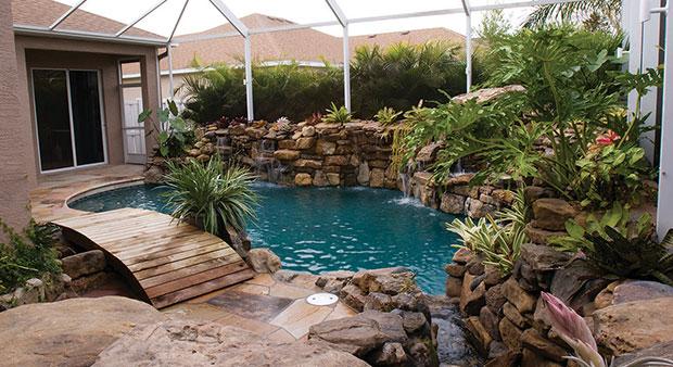 Natural Stone Pool Remodel