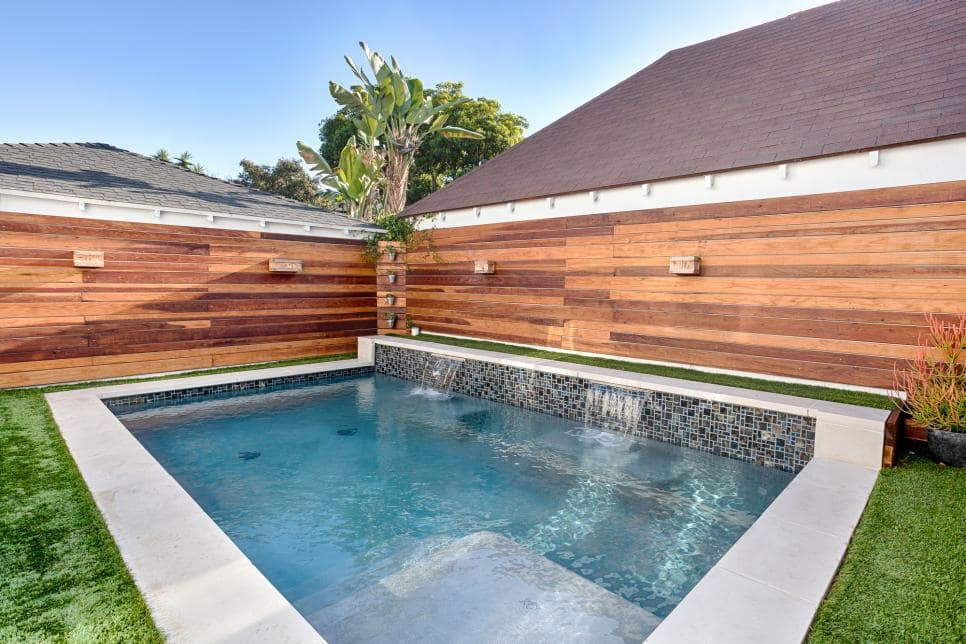 Swimming Pool with Twin Waterfalls