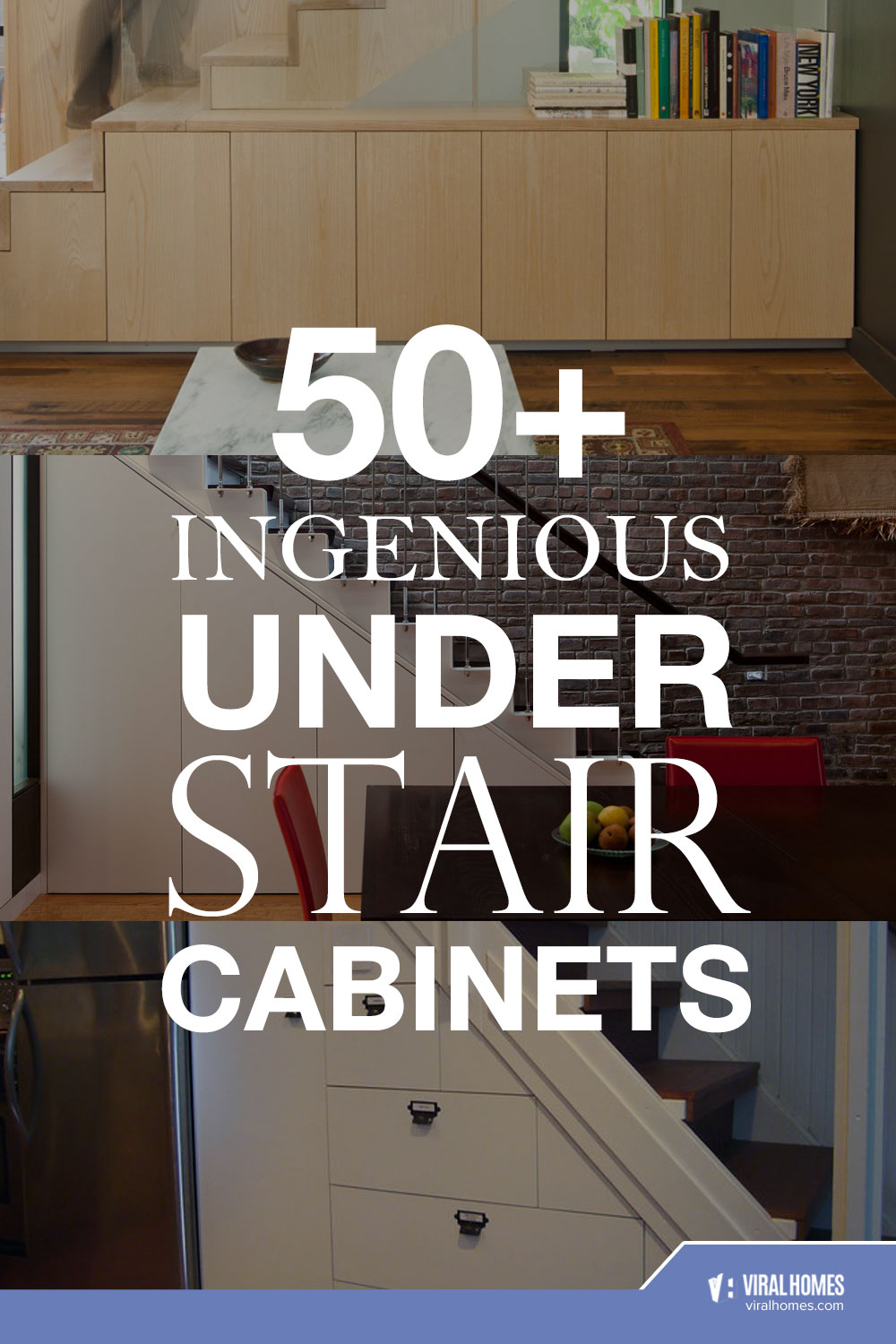 Ingenious Under Stair Cabinets For The Housekeepers
