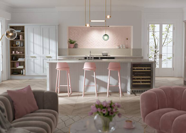 Country Ermine Kitchen in Marshmallow