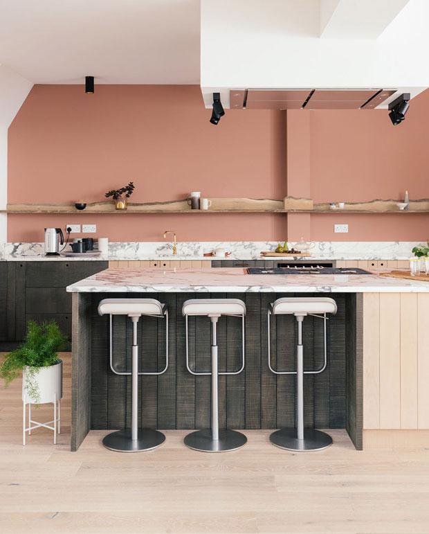 Dusky Peach Kitchen
