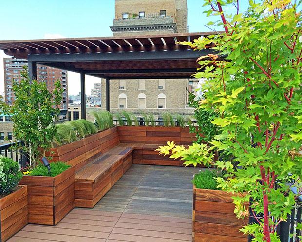 Roof Deck Pergola Garden