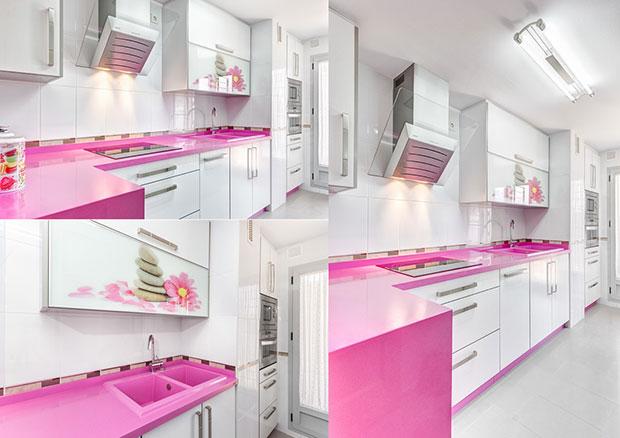 Hot Pink Kitchen