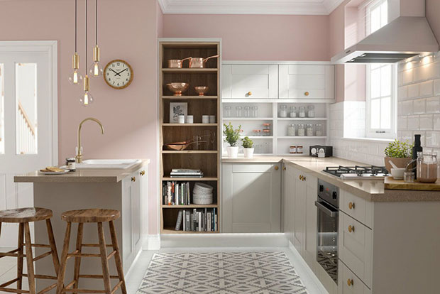 Shaker Kitchen in Fossile Grey