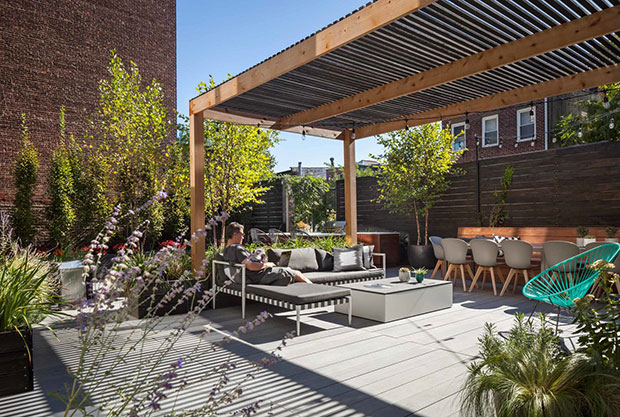 Cobble Hill Contemporary Rooftop