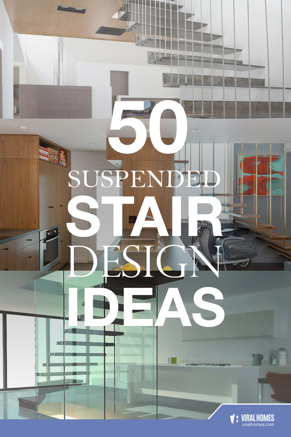 Gorgeous Suspended Stairs for Your Homes