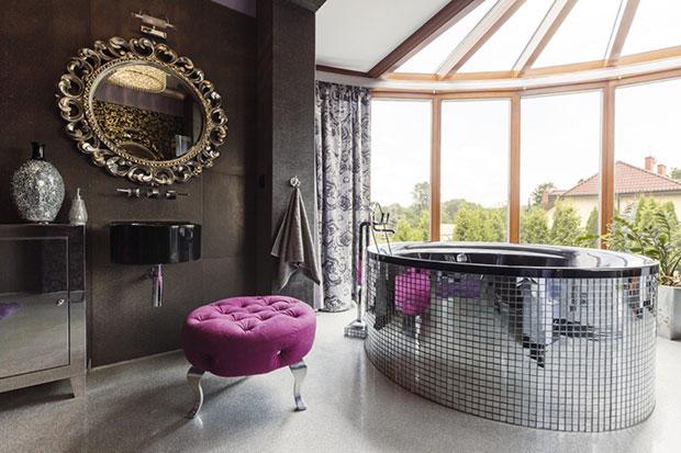 Hollywood Regency Glam Bathroom